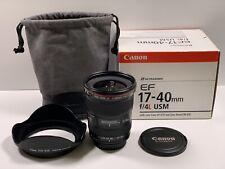 17-40mm F/4.0 Canon EF USM Lente davvero L ben curati