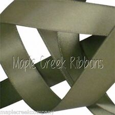 """5yd of Willow (Soft Pine) 1/4"""" Double Face Satin Ribbon 1/4"""" x 5 yards"""
