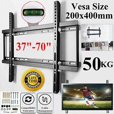 Slim Fixed TV Wall Bracket Mount For 37 40 45 50 55 60 65 70 Inch LCD LED Plasma