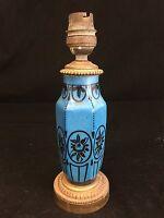 Lampe Porcelaine Bleue Art Deco Monture Bronze Doré Design Limoges Lamp