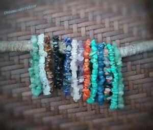Crystal bracelet,Healing crystals,Boho Bracelets,Gypsy Boho Stack