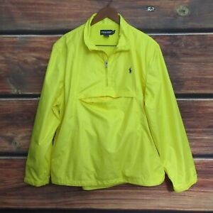 POLO Golf RALPH LAUREN XL Jacket Packable windbreaker - true Yellow Men's XL