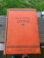 Old Vtg 1937 Life With Father Book By Clarence Day Hardcover New York & London