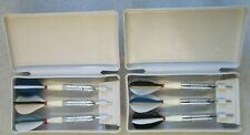 LOT OF TWO SETS OF 3 VINTAGE UNICORN DARTS IN CASE 6 TOTAL DARTS