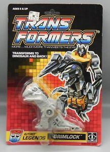 Vintage 1989 Hasbro TRANSFORMERS G1 Legends GRIMLOCK figure MOC Sealed DINOBOT !