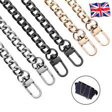 Flat Metal Chain Replacement For Shoulder Bag Handbag Strap Cross Body travel UK