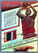 JIMMY BUTLER 2014-15 PRESTIGE BONUS SHOTS GAME USED JERSEY / PATCH SP/5
