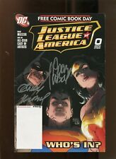JUSTICE LEAGUE OF AMERICA #0 (NM-) SIGNED BY BOTH ANDY & ADAM KUBERT! 2007