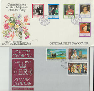 """FALKLAND ISLANDS - """" ROYALTY """" 1977/86 FIRST DAY COVERS"""