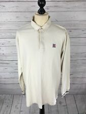 RALPH LAUREN Retro Polo Neck Top - Size Large - Cream - Great Condition