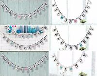 BABY SHOWER BANNERS BUNTING ASSORTED FOR A PARTY GENDER REVEAL BOY OR GIRL