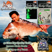 4x Snapper Rigs Flasher Rigs Tied On 80lb Leader Paternoster Reedys Ultra rig