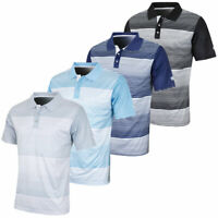 Island Green Mens Mini Stripe Sweat-Wicking Golf Polo Shirt 60% OFF RRP