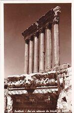 LEBANON - Baalbeck - Les six colonnes du Temple de Jupiter - Photo Postcard