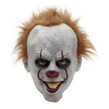 Halloween Cosplay Scary Latex Mask Costume Stephen King's IT Clown Pennywise New
