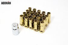 20Pc 12X1.25 Aodhan XT51 Lug Nuts Gold Open End Fit 240Sx S13 S14 Sentra