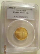 2001W U. S. Capitol Visitor Center Gold $5. PCGS MS69 graded at 25% off