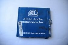 "ALLIED LOCKE INDUSTRIES PRECISION ROLLER CHAIN 10B-1 5/8"" X 3/8"" INCLUDES CONNEC"