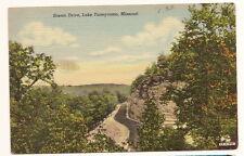 Senic Drive Lake Taneycomo Missouri Linen vintage Postcard Unused