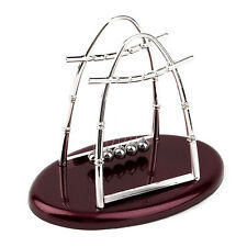 Hot Newtons Cradle Steel Balance Ball Physics Science Pendulum Desktop Gift G#