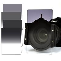 Zomei 4x6in GND2 4 8 16 Filter Kit+67/72/77/82mm Adapter Ring+Holder for Cokin Z