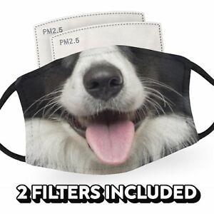 Border Collie Dog - Child Face Masks - 2 Filters Included