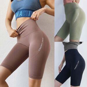 Women's High Waist Tummy Control Workout GYM Athletic Yoga Shorts Running Tights