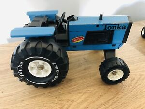 Vintage Toy Tonka Die Cast Blue Tractor