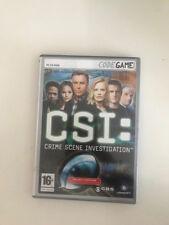 CSI CRIME SCENE INVESTIGATION PC CD ROM JUEGO UBISOFT 3 CD