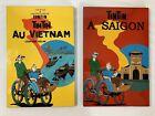 TinTin Wall Hangings Art Au Vietnam A Saigon Herge Plaque Lacquer Comic Lot of 2