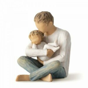 Willow Tree Little One Figurine Father & Baby Ornament Dad Gift RRP £45 New