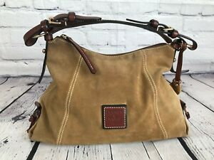 Dooney & Bourke Brown Leather & Suede Handbag Hobo Purse