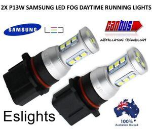 2X P13W SAMSUNG LED WHITE CAR HEADLIGHT FOG LIGHT BULB FORD SUBARU AUDI MAZDA