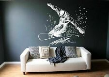 Wall Decal Sticker bedroom snowboarding sport mountain snow boys nursery  bo2731