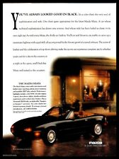 1992 MAZDA Black Miata Convertible Car AD Vintage Advertising