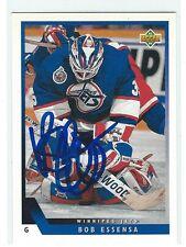 Bob Essensa Signed 1993/94 Upper Deck Card #144