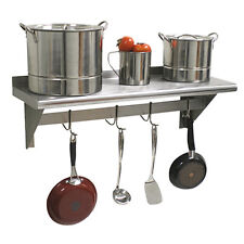 """Advance Tabco Ps-12-48 48"""" Wall-Mounted Shelf With Pot Rack"""