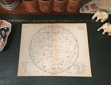 Original 1880 Antique Astronomy Celestial STAR CONSTELLATION MAP Taurus Pisces