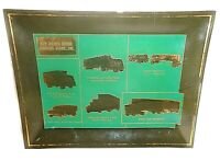 Vtg New Mexico Motor Carriers Trucking Advertising Glass Plate Display