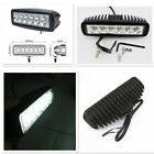 18W Spot Lamp Off Road Driving Fog Work Lights 6 Cree LED Bar ATV 4X4 Truck SUV