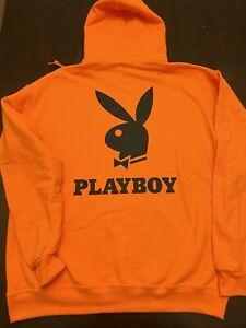Playboy Hoodie New Size Small Safety Orange Mens Size Small Orange