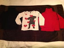 Lot of 3 Long Sleeve Shirts. 1 Baby GAP, 2 Geranimsls Turtlenecks Todder size 5T