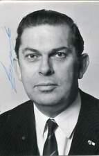 Barend Biesheuvel autograph, Prime Minister of the Netherlands 1971-1973, signed