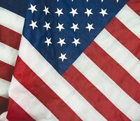 2.5 x 4 Embroidered USA American Pole Sleeve Nylon Flag 2.5'x4' (Made in USA)