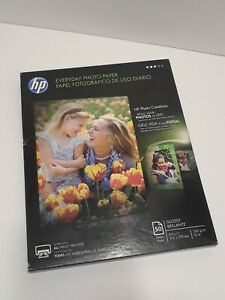 HP Everyday Photo Paper Glossy 8 1/2 x 11, 47 Sheets/Pack OPEN BOX