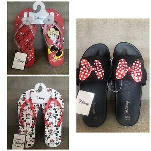 Primark  DISNEY Minnie Mouse Primark Flip Flops & Sliders S-L BNWT