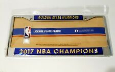 GOLDEN STATE WARRIORS 2017 NBA CHAMPIONS LICENSE PLATE FRAME BLUE GOLD. NEW