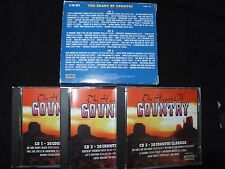 COFFRET 3 CD THE HEART OF COUNTRY / 60 COUNTRY CLASSICS /