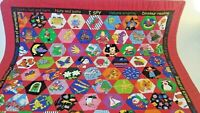 I spy Crib Tied Quilt handmade Red Baby Crib Blanket 34 X 40 inches