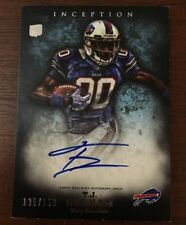 TJ GRAHAM 2012 TOPPS INCEPTION AUTOGRAPHED SIGNED AUTO FOOTBALL CARD BILLS 131